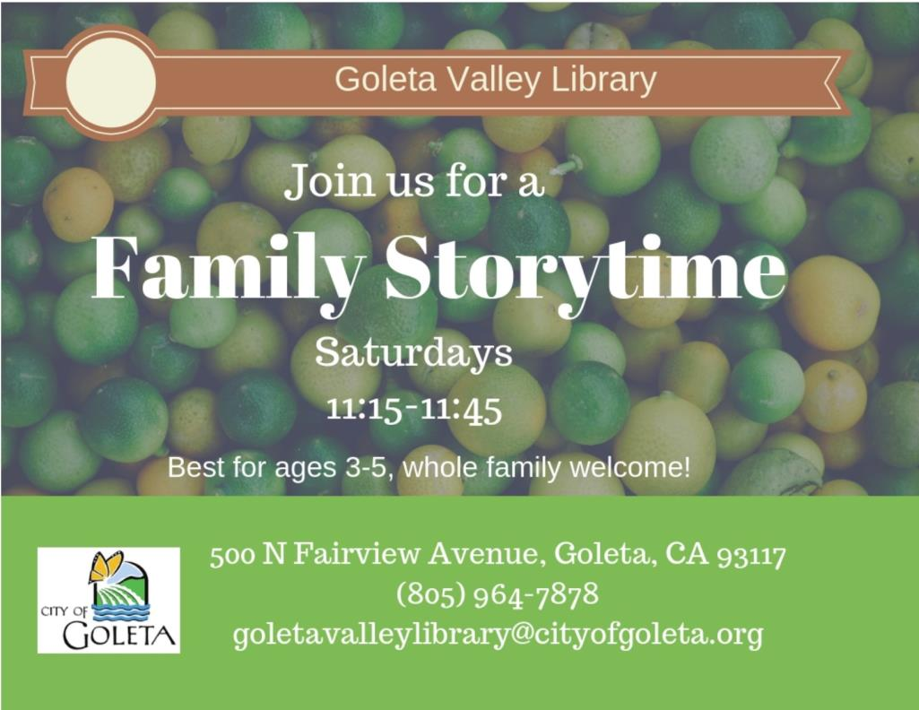 Saturday Library Storytime