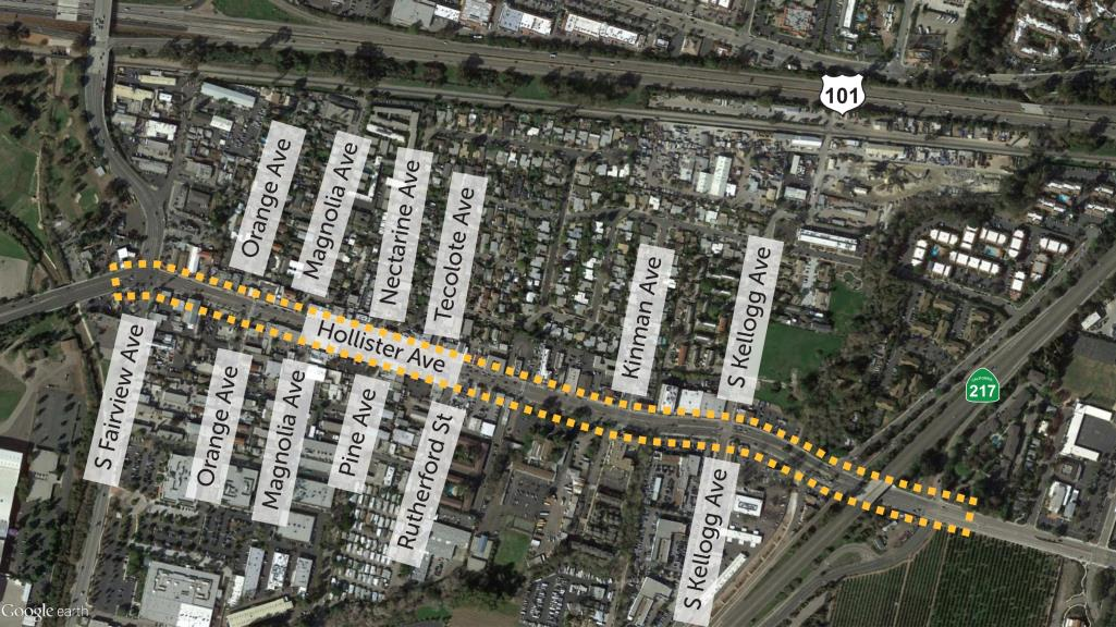 Complete Streets Aerial Map