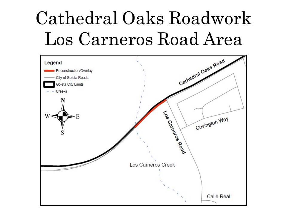 Cathedral Oaks Roadwork_Los Carneros